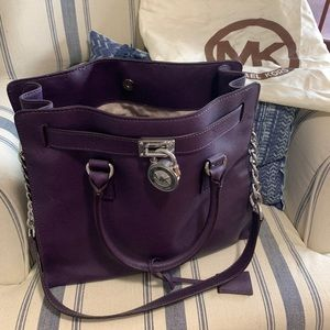 Deep purple Michael Korea's Large Chain Bag